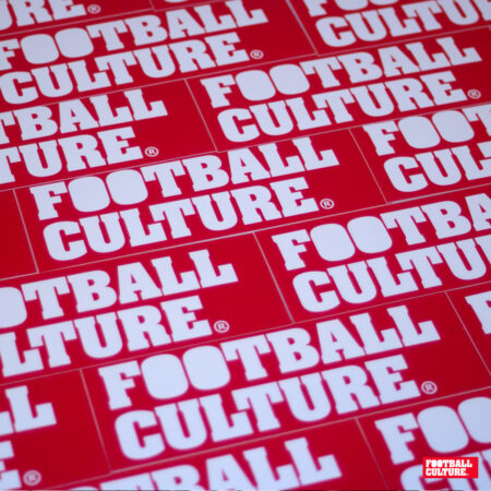 Footballculture stickers boxlogo red