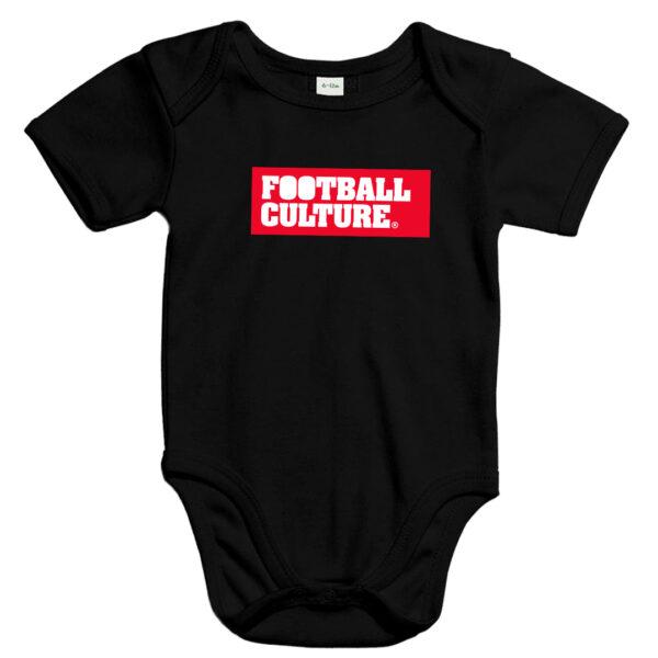 Baby Romper voetbal zwart