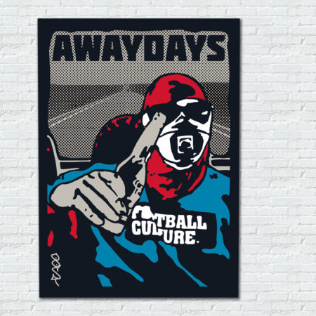 awaydays aluminium wall art